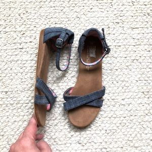 Toms chambray sandals